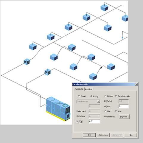 Ventilation - C A T S  Software | TGA Software | piping 3d